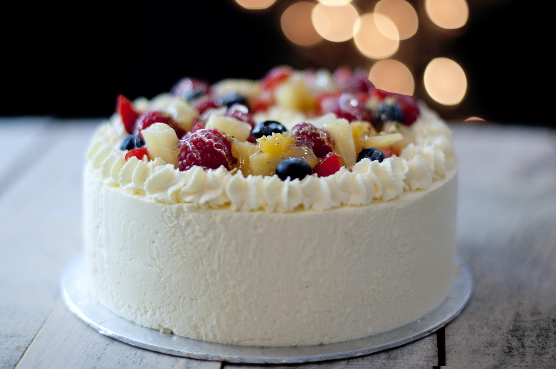 Celebration Cakes Fruit Topped cake-min