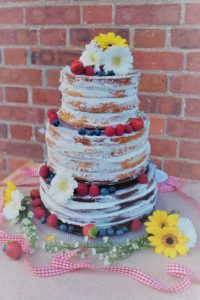 Our Naked Wedding Cake