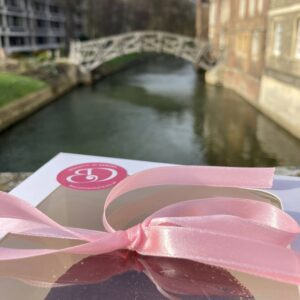 Hand delivering cakes in Cambridge